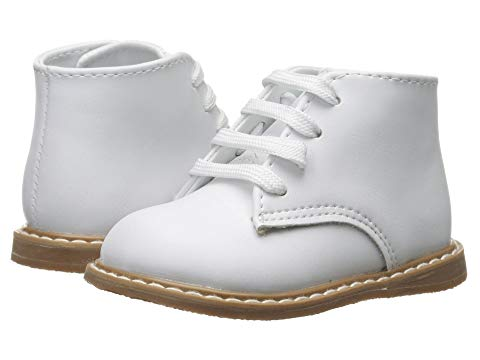 Baby Deer White Leather Hi-Top with Crepe Outsole