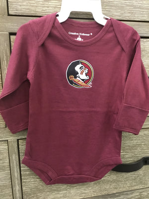 Creative Knitwear FSU Long Sleeve Bodysuit - Garnet