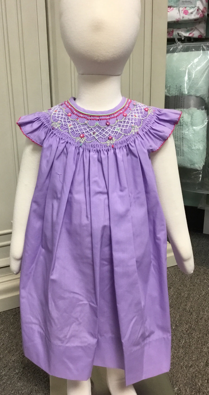 Petit Ami Purple Smocked Dress