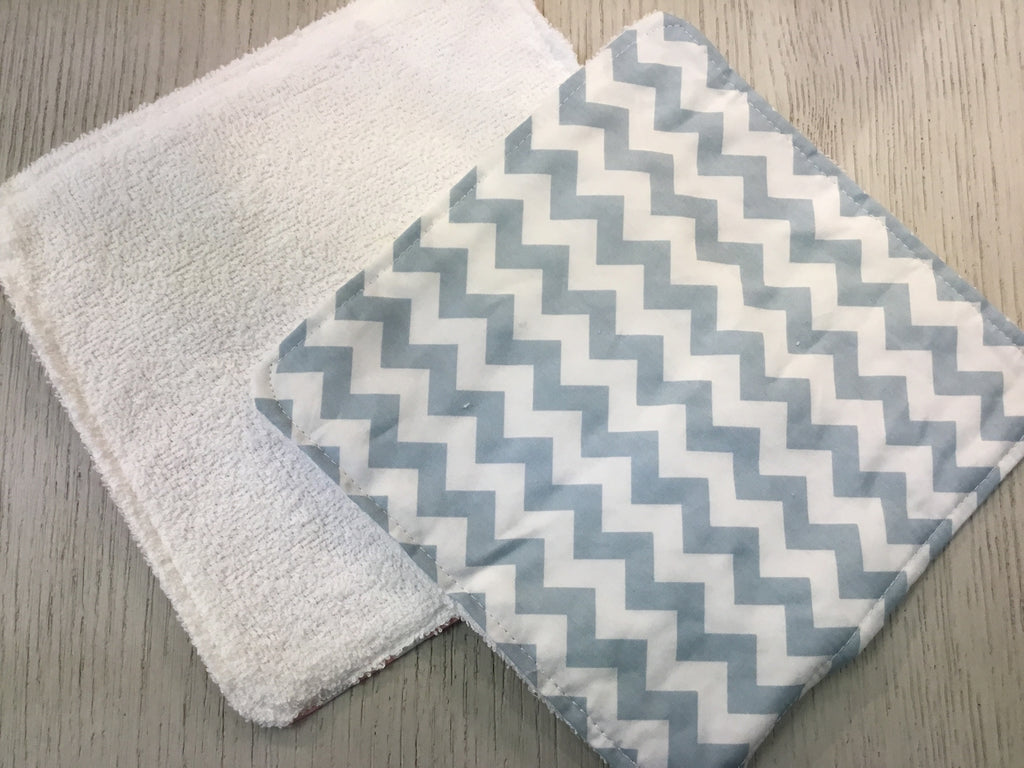 Trend Lab Wash Cloth - Blue Chevron