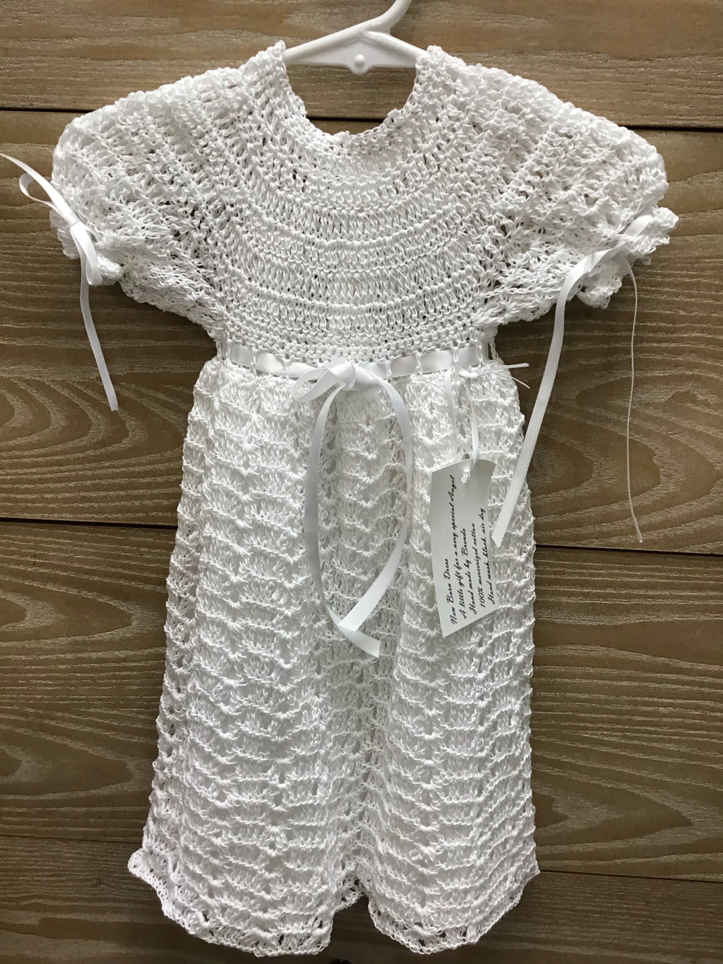 Brenda's Designs Crocheted Newborn Gown