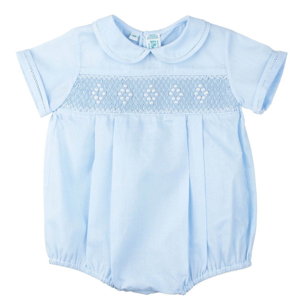 Feltman Brothers Smocked Creeper - Blue