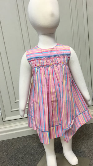 Petit Ami Pink Stripe Sundress