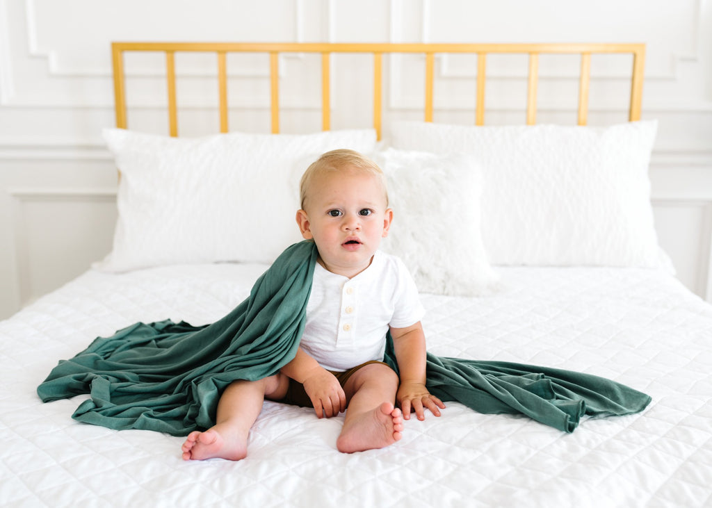 Copper Pearl Knit Swaddle Blanket - Journey