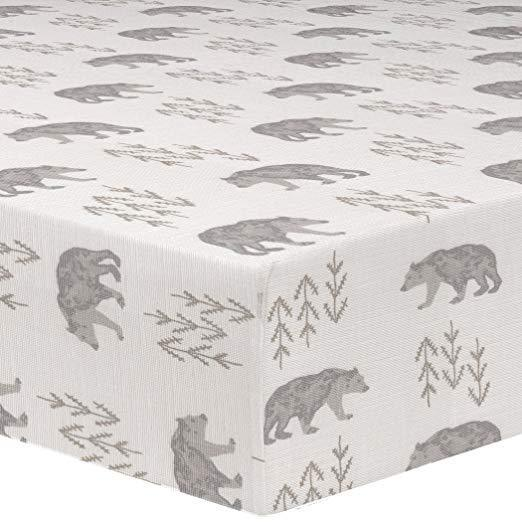 "Sissy & Sawyer ""Emmett"" (Gray/Taupe) Crib Sheet"