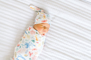 Copper Pearl Knit Swaddle Blanket - Nautical