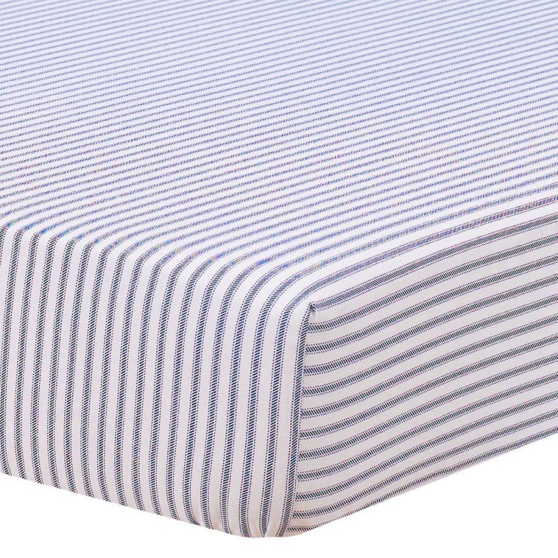 Liz & Roo Navy Classic Stripe Crib Sheet