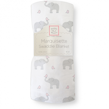 Swaddle Designs Marquisette Swaddle Blanket - Elephant Pink