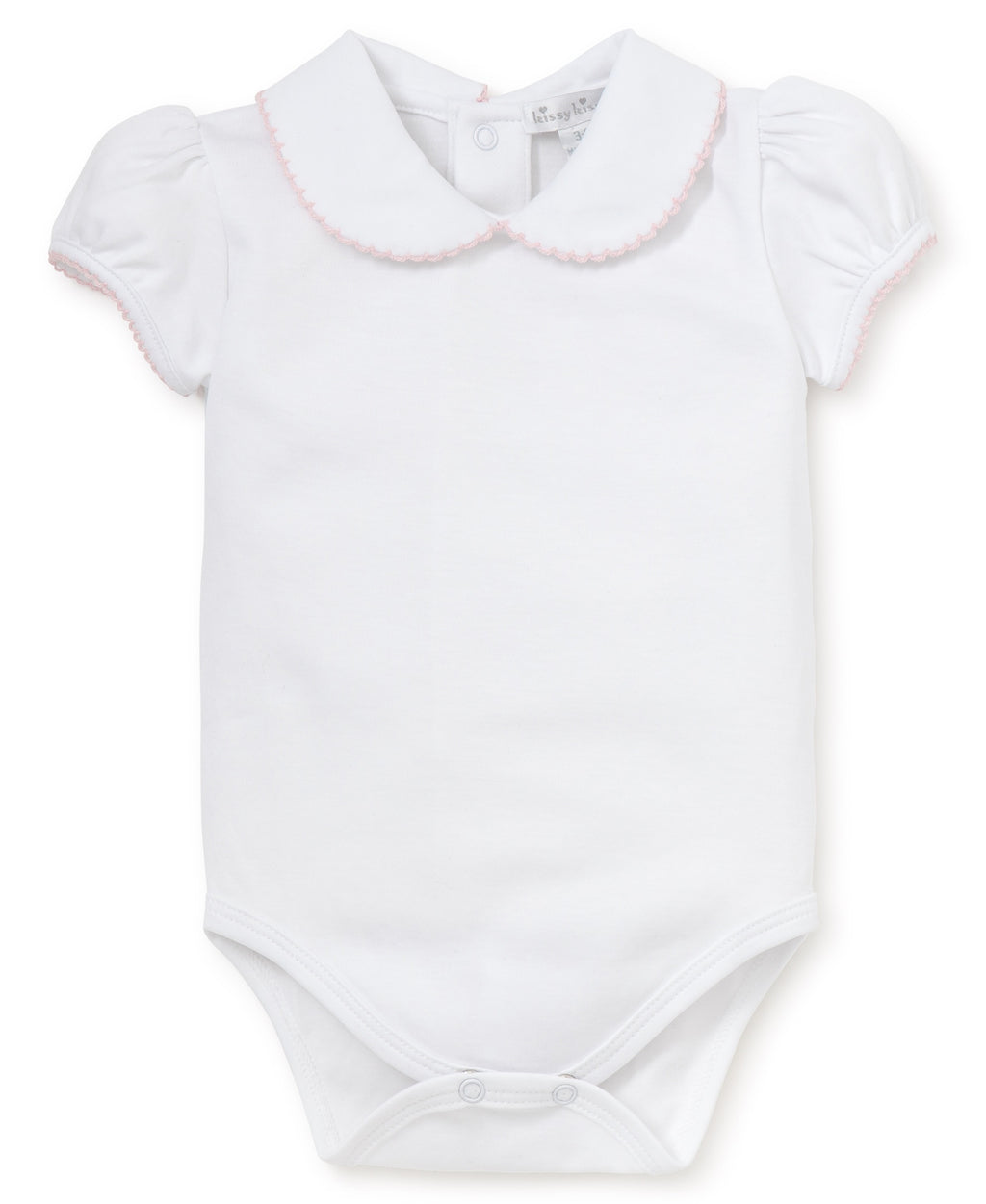 Kissy Kissy Girl's Basics S/S Body w/Collar