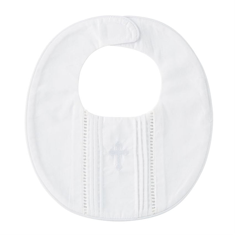 Mudpie Pleated Christening Bib