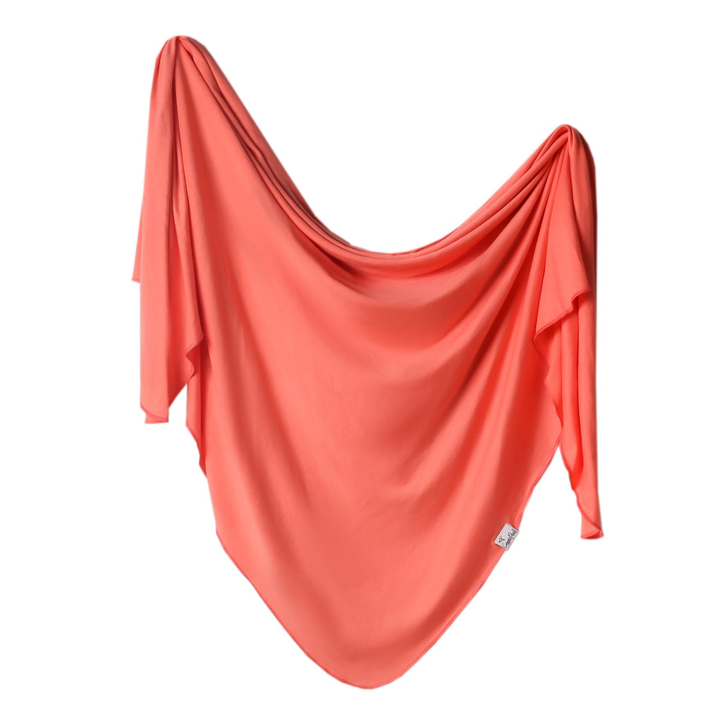 Copper Pearl Knit Swaddle Blanket - Stella