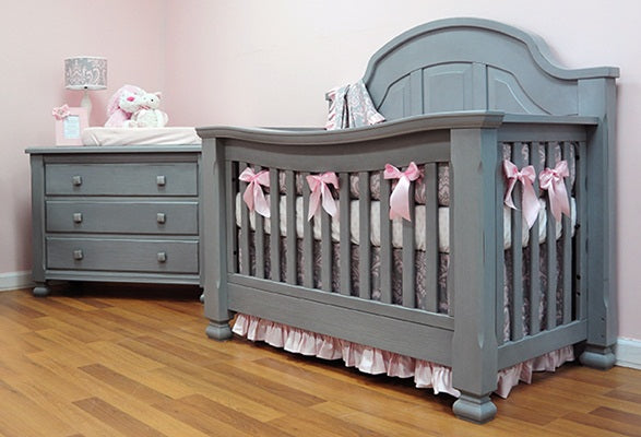 Baby's Dream Sugar Crib- Vintage Grey