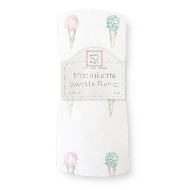 Swaddle Designs Marquisette Swaddle Blanket - Watercolor Ice Cream