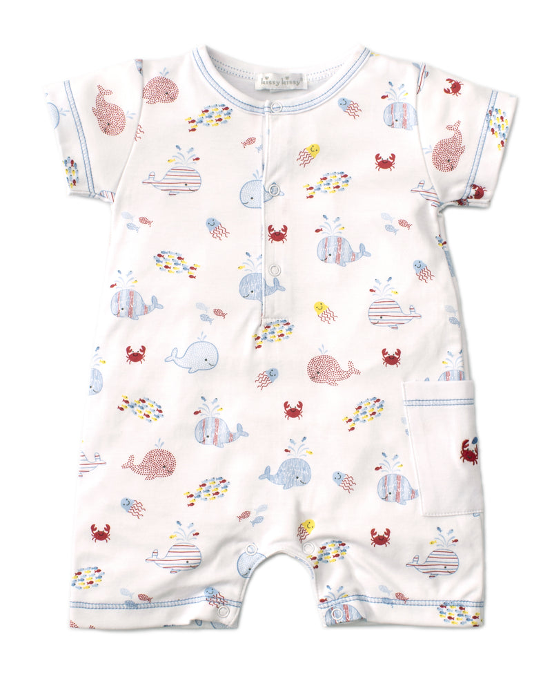 Kissy Kissy Whale of a Time Short Playsuit