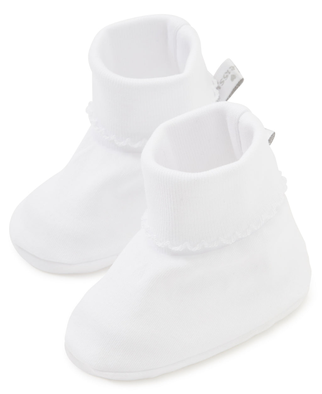 Kissy Kissy Basic Booties - White