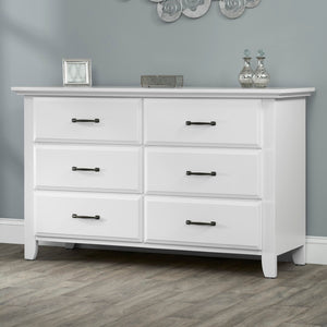 Willowbrook 4-in-1 Crib and Double Dresser - White