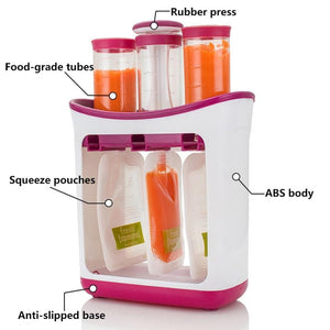 DIY BABY FOOD SQUEEZE STATION