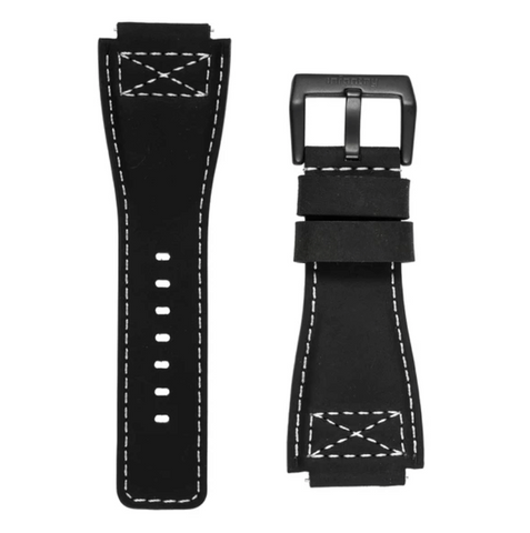 INFANTRY REVOLUTION BLACK 24MM GENUINE LEATHER STRAP (WS-L-BLK-SET)