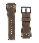 INFANTRY REVOLUTION BROWN 24MM GENUINE LEATHER STRAP (WS-L-BR-SET)