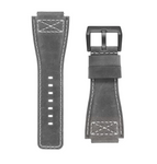 INFANTRY REVOLUTION GREY 24MM GENUINE LEATHER STRAP (WS-L-GREY-SET)