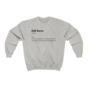 Full Force Definition Crewneck Sweatshirt - mango-world