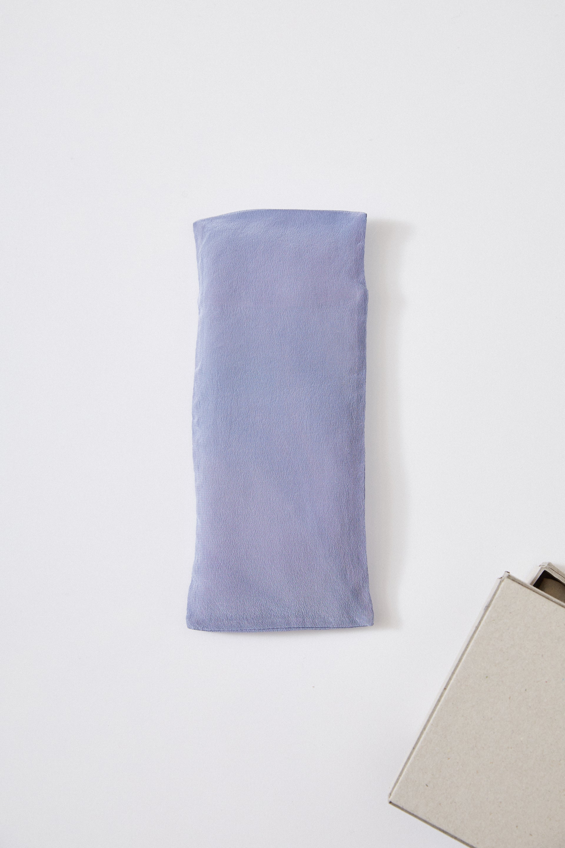 HAND DYED SILK AROMATHERAPY EYEPILLOW - RED CABBAGE