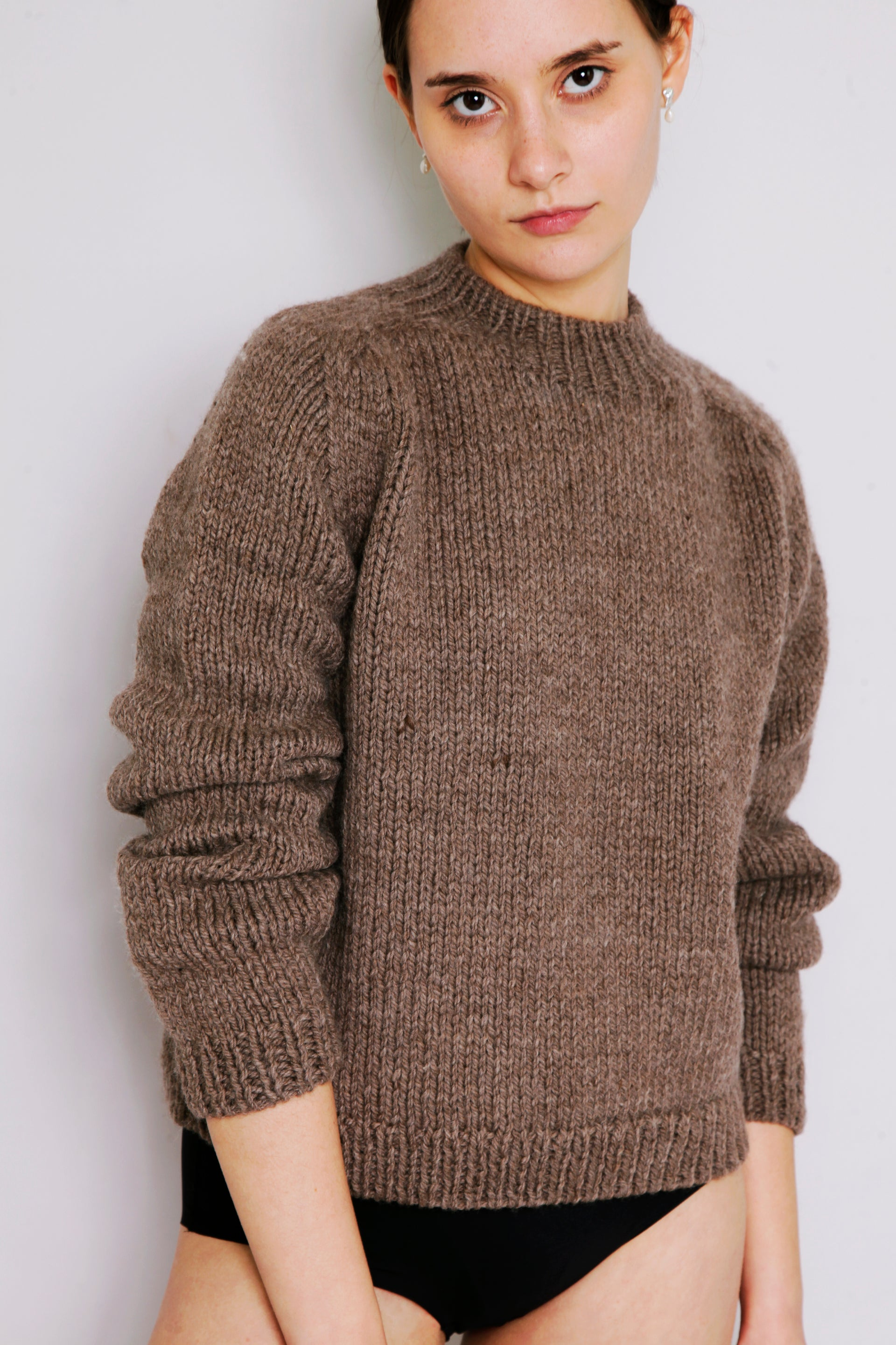 HAND KNITTED MOLLE WOOL JUMPER - CUB