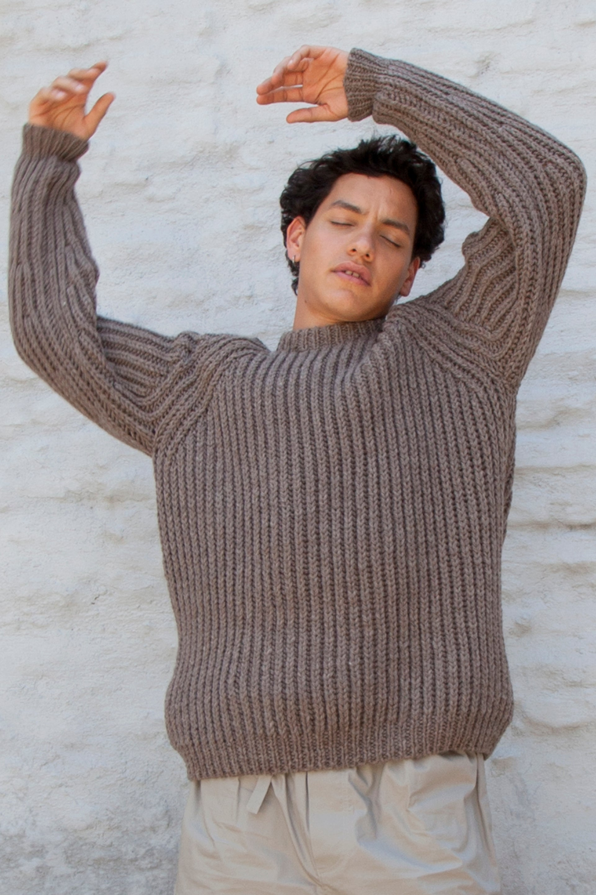 HAND KNITTED YABO WOOL JUMPER - CUB