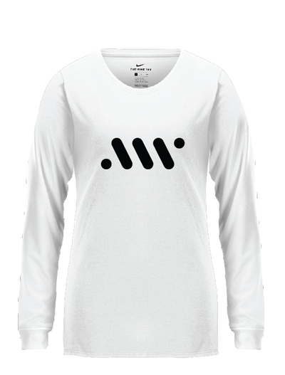 White Ladies' Nike Core Long Sleeve - A'ja Logo