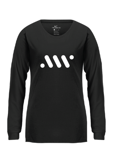 Black Ladies' Nike Core Long Sleeve - A'ja Logo