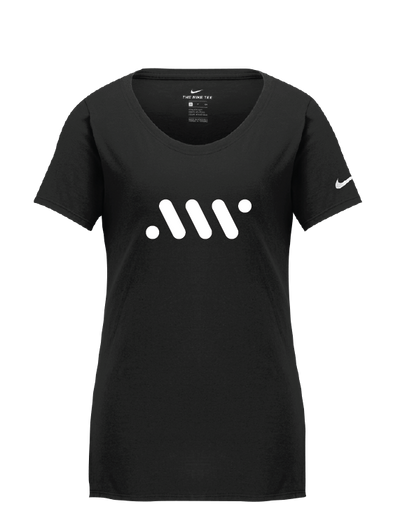 Black Ladies' Nike Core Tee- A'ja Logo