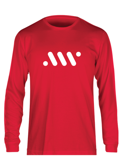 Red Nike Core Long Sleeve - A'ja Logo