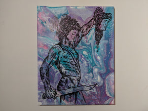 "Perseus with the Head of Medusa 11"" x 14"" - DanCap Designs"