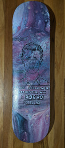 "David Bowie 8""x32"" Skateboard - DanCap Designs"
