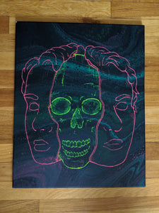 "Split Down the Middle 16"" x 20"" (Glow in the Dark) - DanCap Designs"