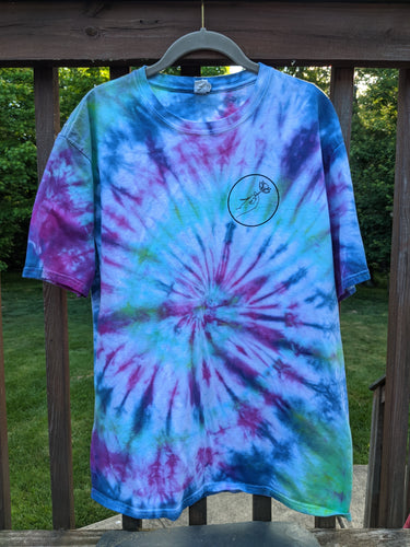 Here's a Flower Tie-Dye T-Shirt - Size X-Large
