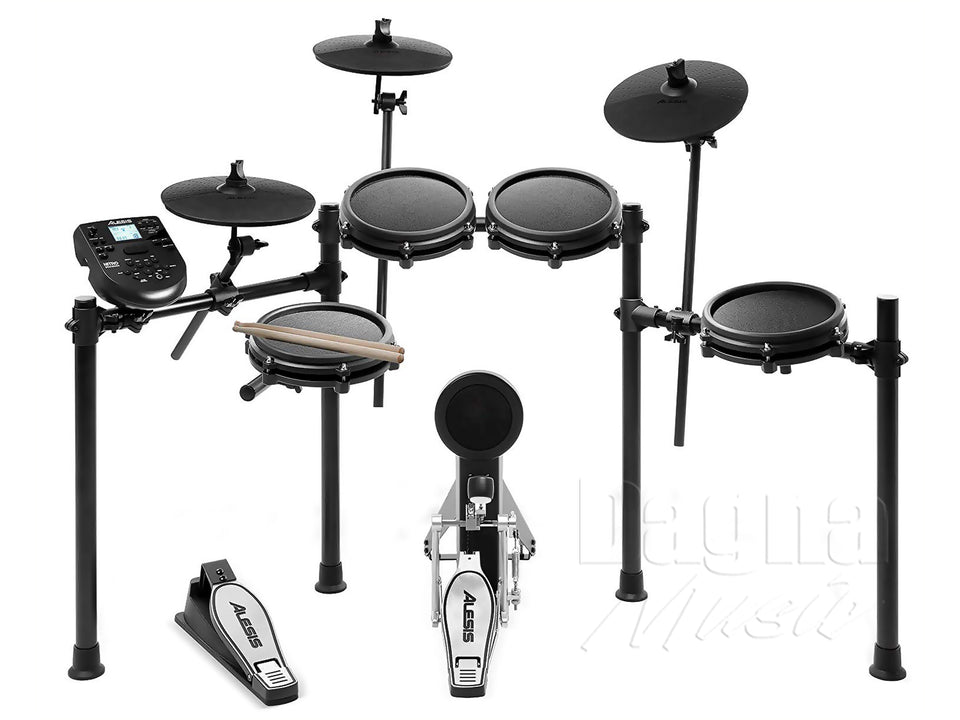 ALESIS NITRO 8-PIECE ELECTRONIC DRUM KIT WITH MESH HEADS