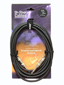 On-Stage IC-15 QTR-QTR Standard Instrument Cable - 15 Feet