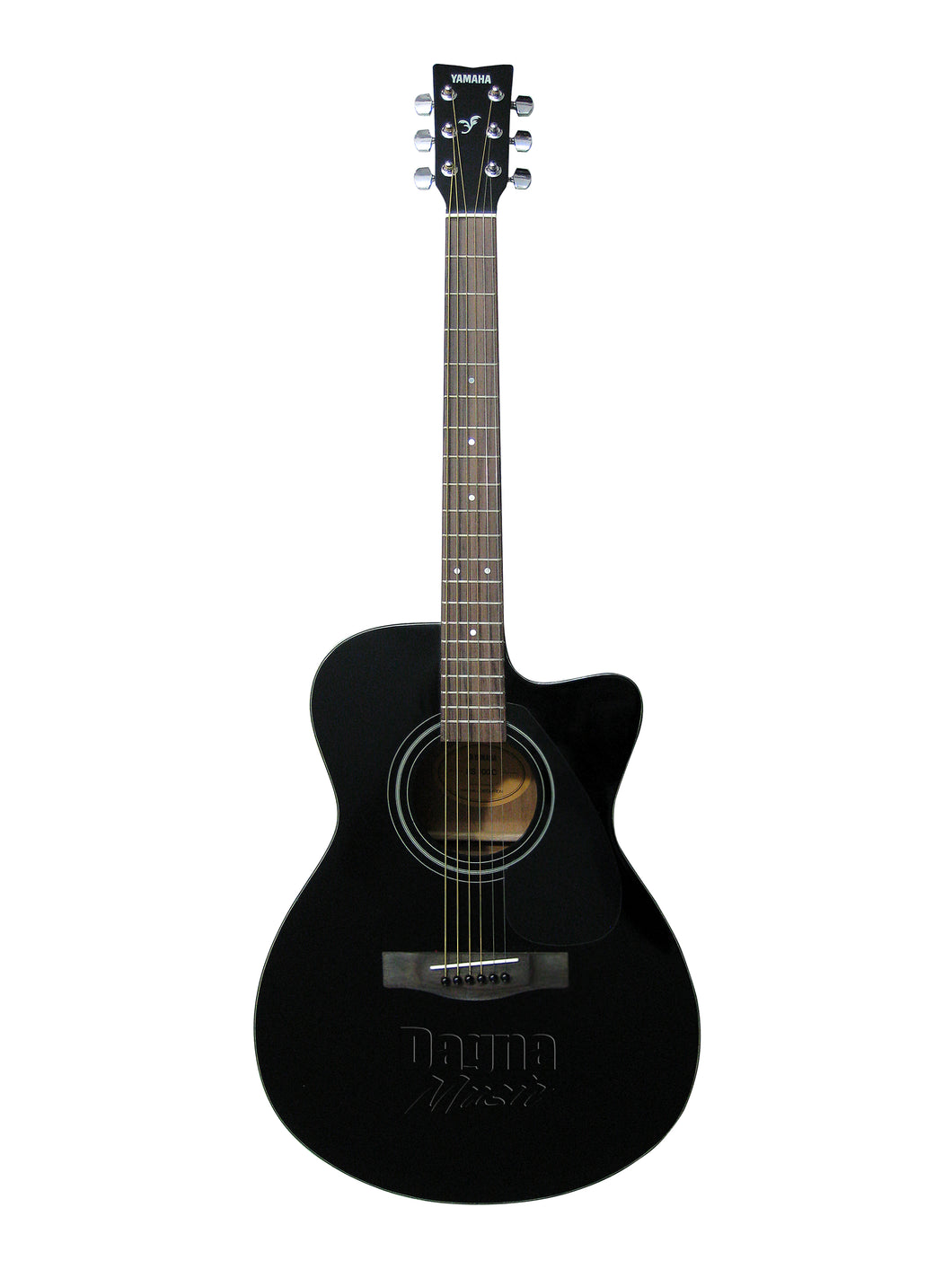 Yamaha FS-100C Black Cutaway Acoustic Guitar Black