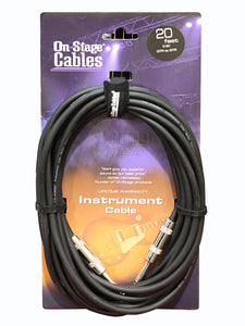 On-Stage IC-20 Standard Guitar Cable 6 Metres