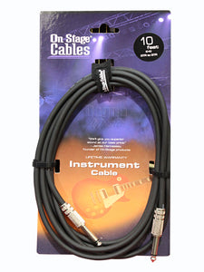 On-Stage IC-10 Hot Wire Standard Instrument Cable, 10 Feet