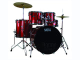 Natal K-EVB-UF22-RE Evo Rock Shell Set Red Acoustic Drum Kit