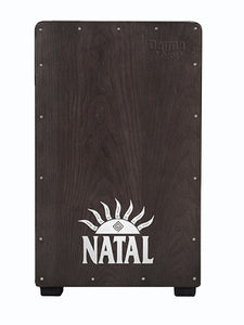 Natal CJAN-L-SW-BN Black Cajon Natural Panel, Black Logo