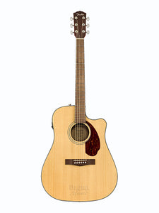 Fender CD-140SCE Electro Acoustic Natural Guitar with Case