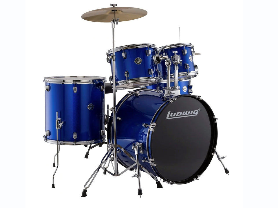 Ludwig LC 17519 DIR 5 Piece Drum set Blue Foil