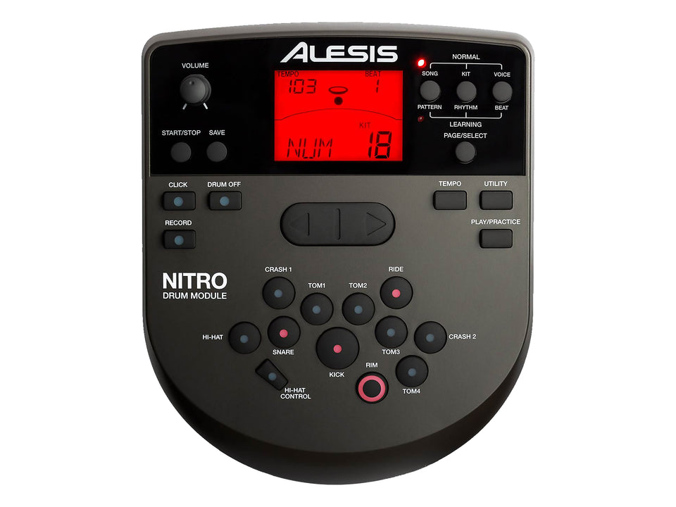 Alesis Nitro Mesh Electronic Drum Kit – Special Edition Red