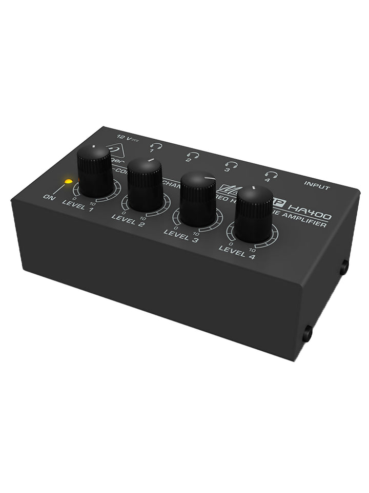 Behringer MicroAMP HA400 Ultra-Compact 4-Channel Headphone Amplifier