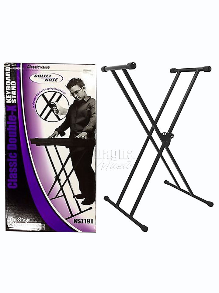On Stage KS7191 Double Braced Keyboard Stand