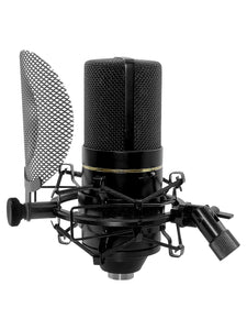 MXL 770 Microphone Complete Condenser Microphone Bundle with Shockmount Pop Filter and Cable