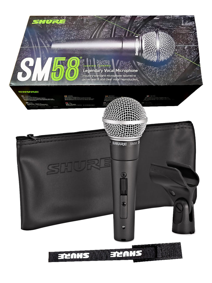 Shure SM58S Cardioid Dynamic Microphone